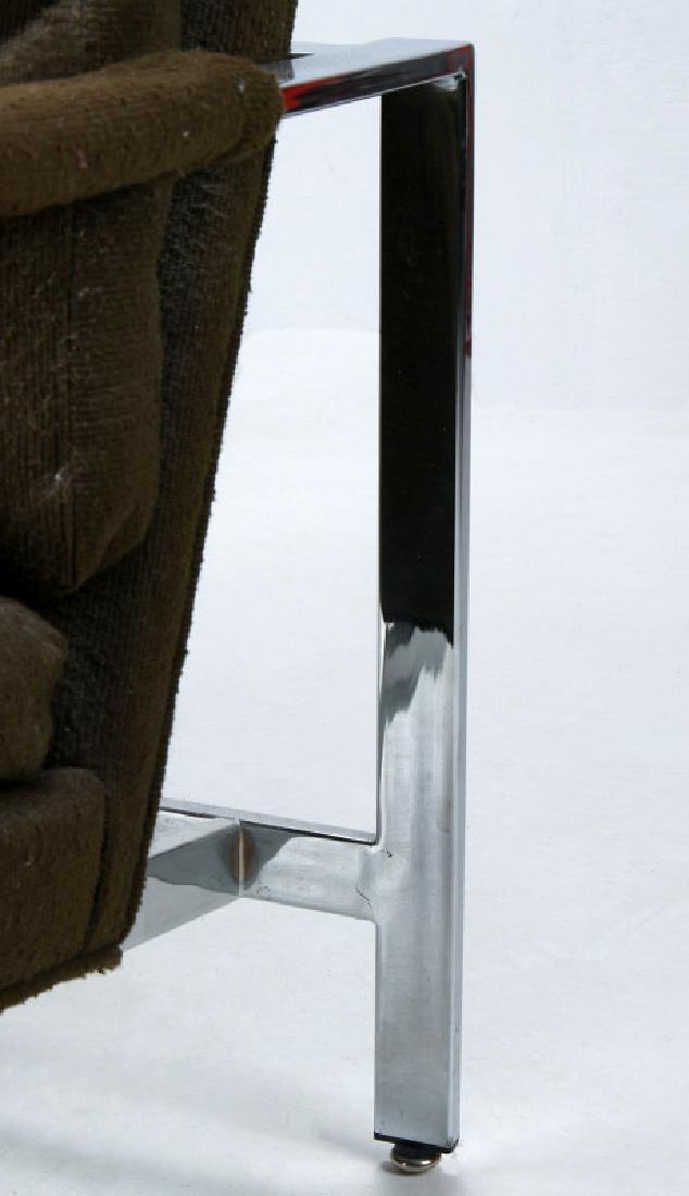 A MILO BAUGHMAN CHROMED STEEL CHAIR FOR THAYER - 5