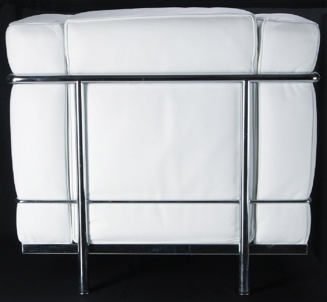 A CONTEMPORARY 'CASSINA' LC3 LEATHER ARM CHAIR - 6