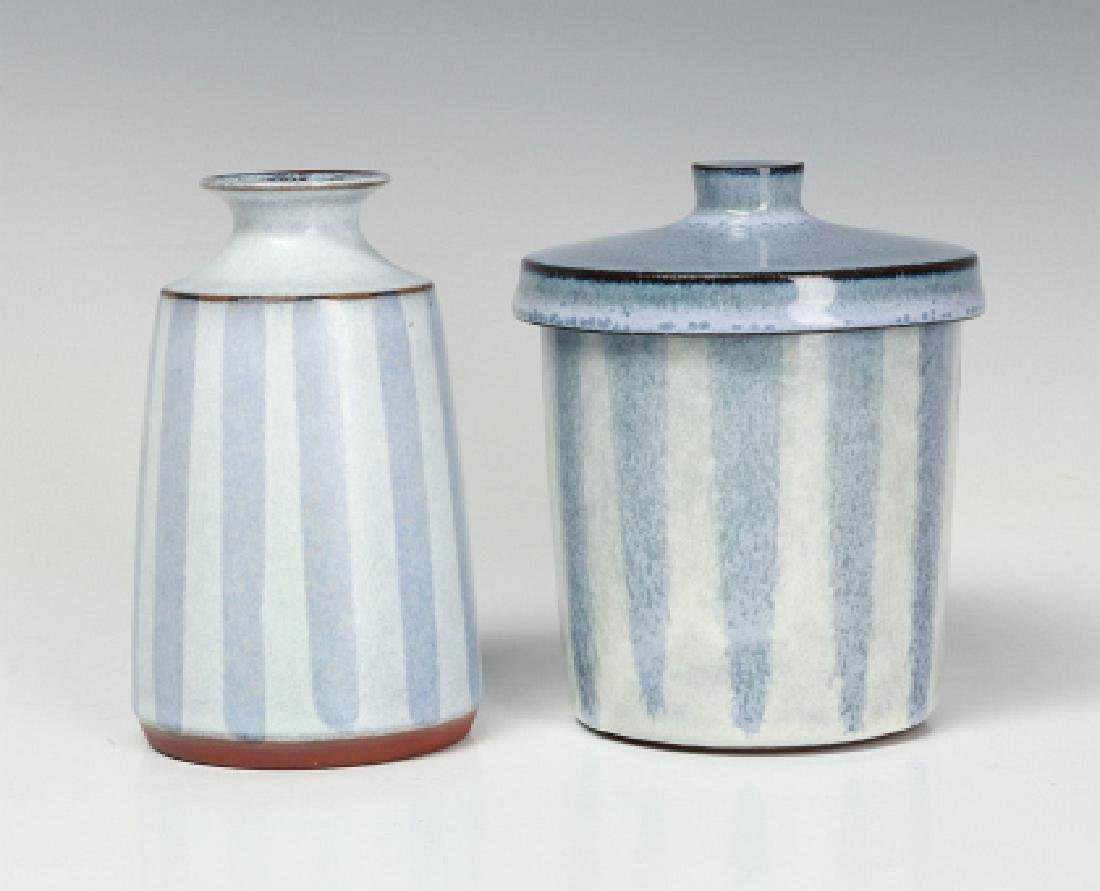 TWO CERAMIC WORKS BY STUDIO POTTER RUPERT DEESE