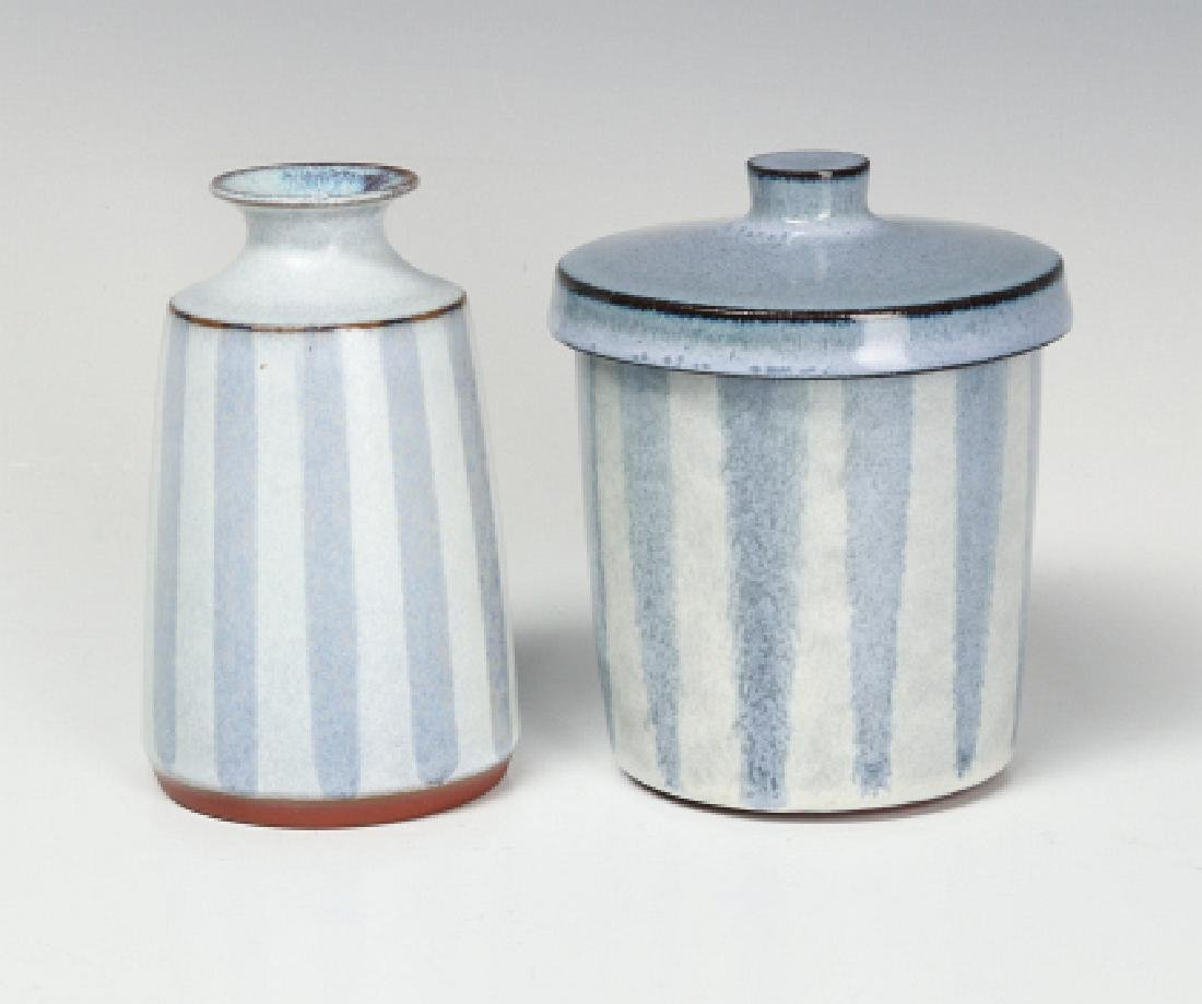 TWO CERAMIC WORKS BY STUDIO POTTER RUPERT DEESE - 2