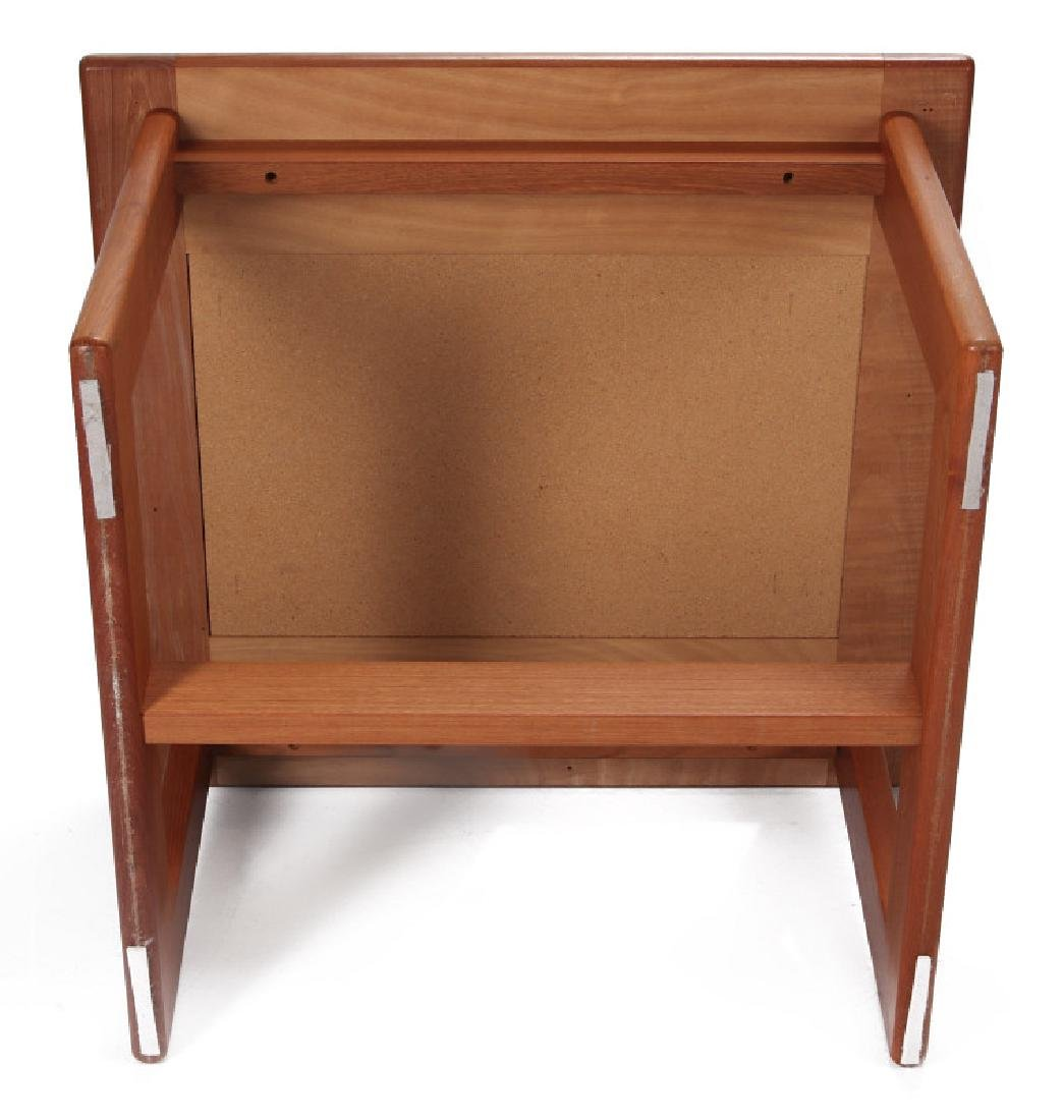 A DANISH MODERN SIDE TABLE, TEAK WITH SLATE INLAY - 9