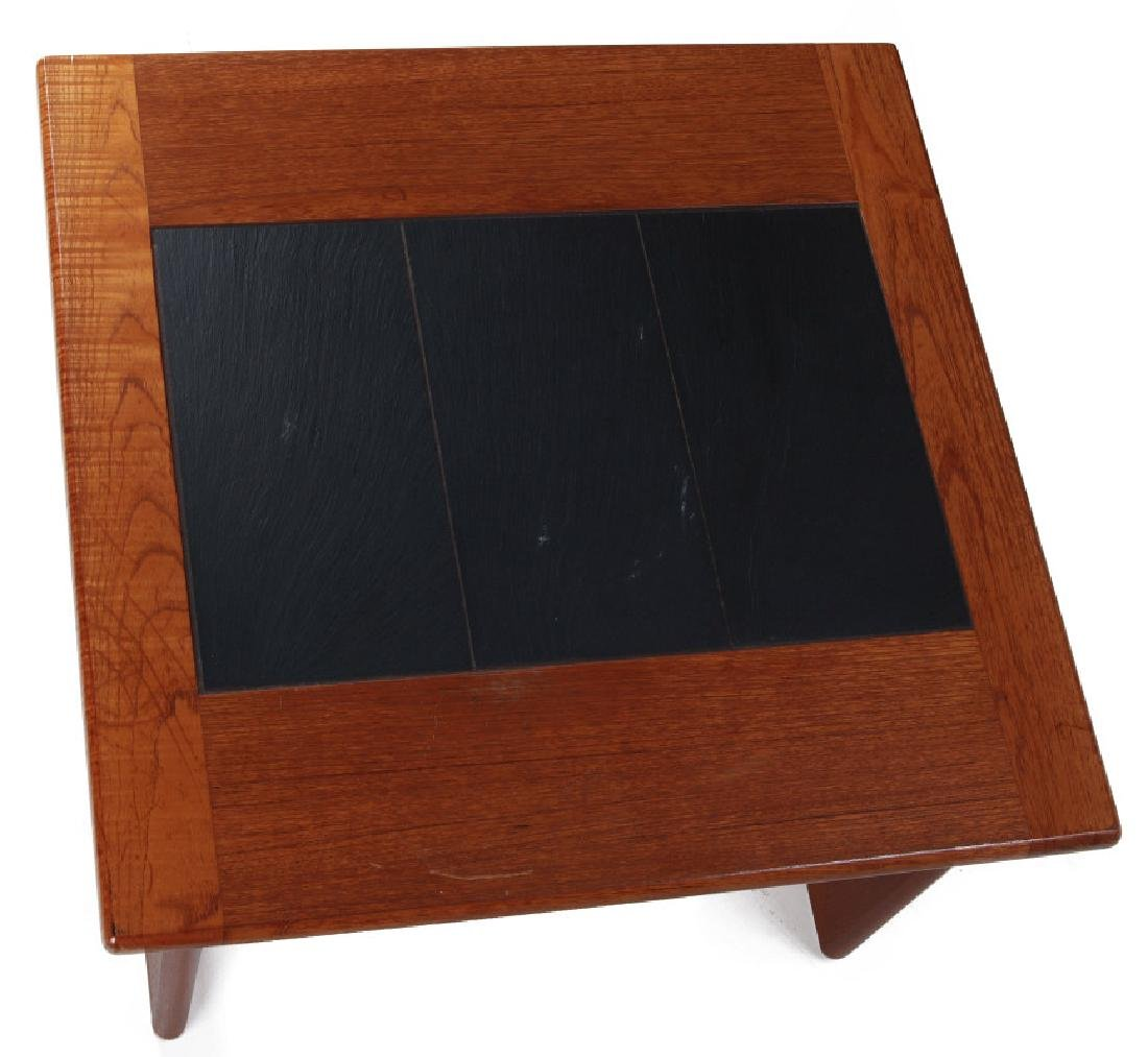A DANISH MODERN SIDE TABLE, TEAK WITH SLATE INLAY - 2