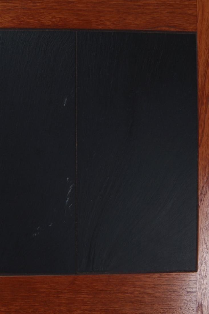 A DANISH MODERN SIDE TABLE, TEAK WITH SLATE INLAY - 4