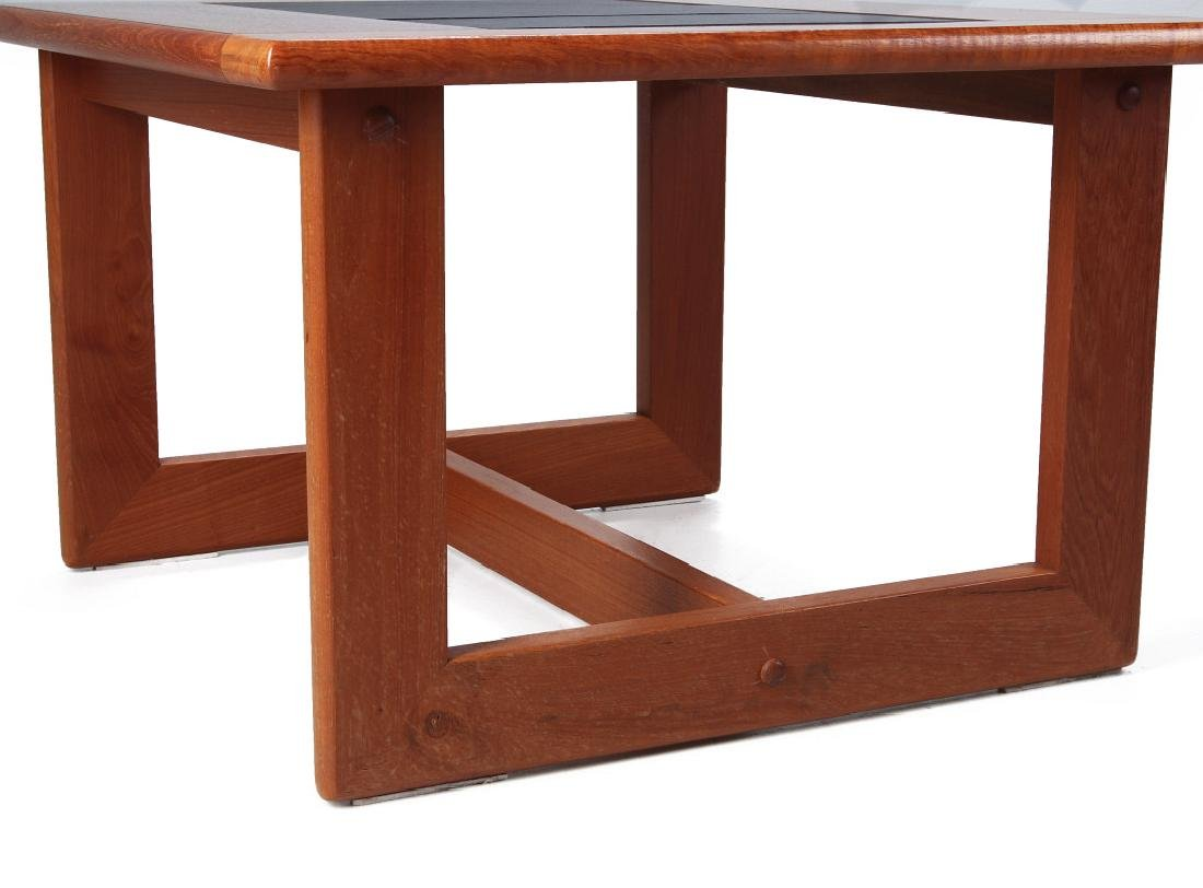 A DANISH MODERN SIDE TABLE, TEAK WITH SLATE INLAY - 5