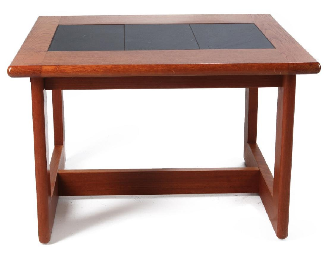 A DANISH MODERN SIDE TABLE, TEAK WITH SLATE INLAY - 6