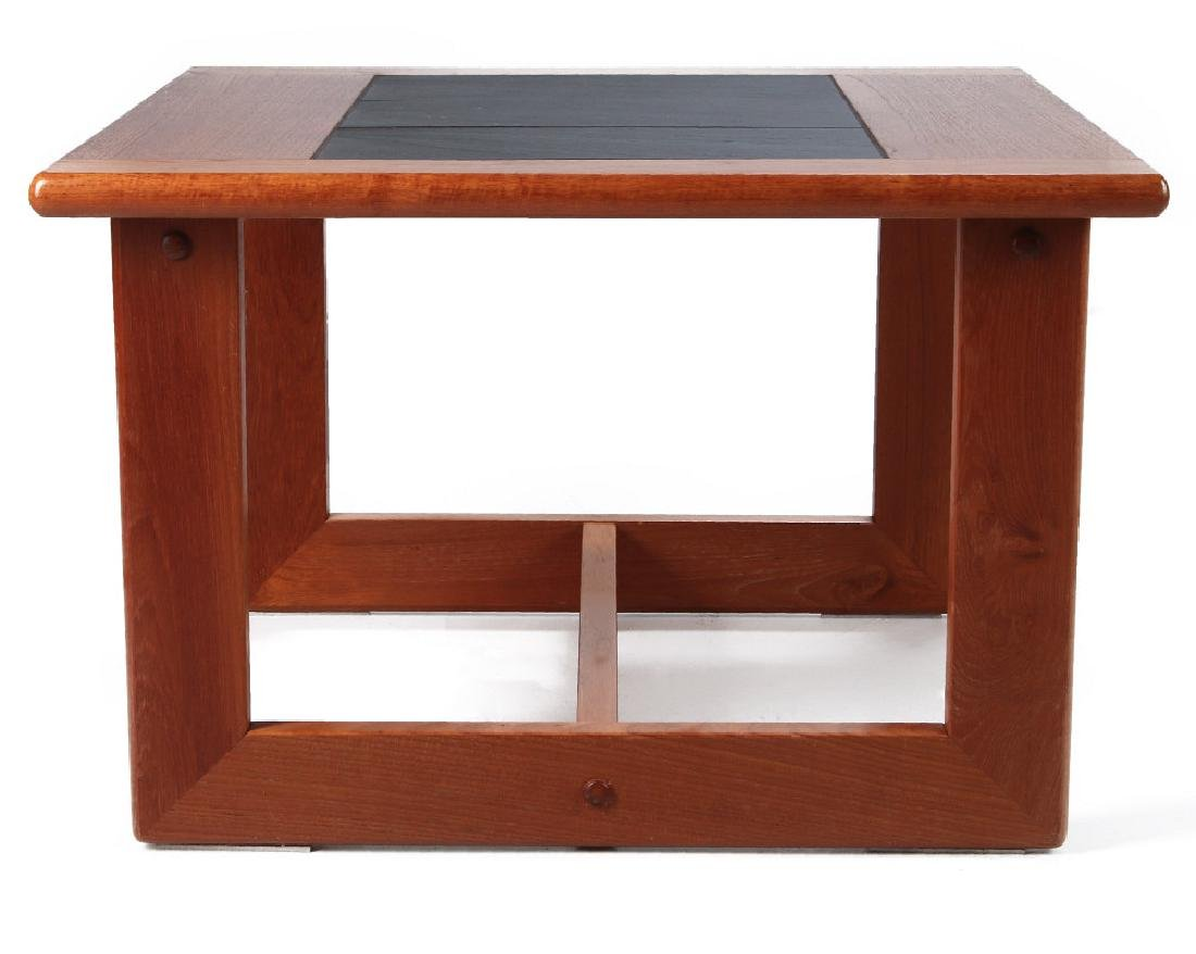 A DANISH MODERN SIDE TABLE, TEAK WITH SLATE INLAY - 7