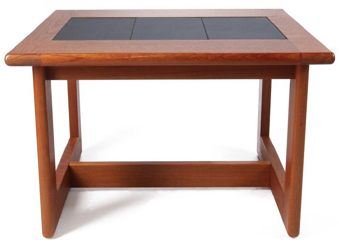 A DANISH MODERN SIDE TABLE, TEAK WITH SLATE INLAY - 8