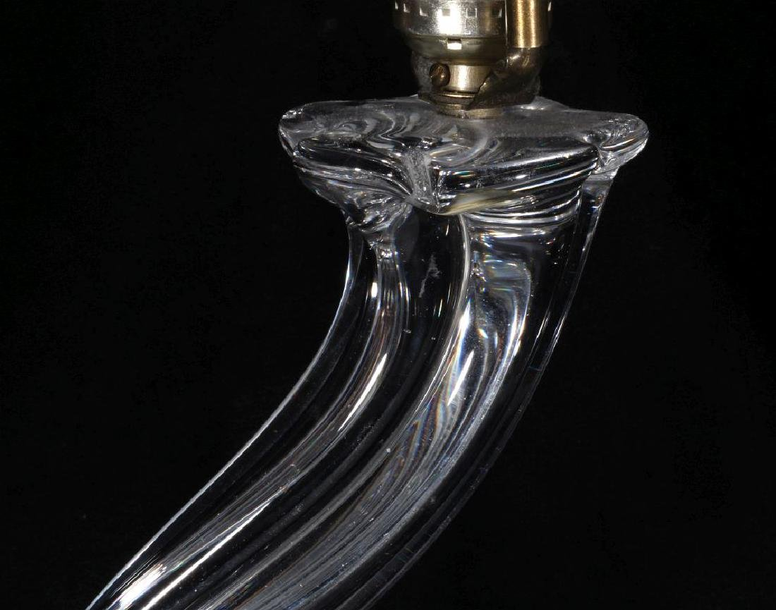 A MODERN CRYSTAL TABLE LAMP SIGNED DAUM FRANCE - 2