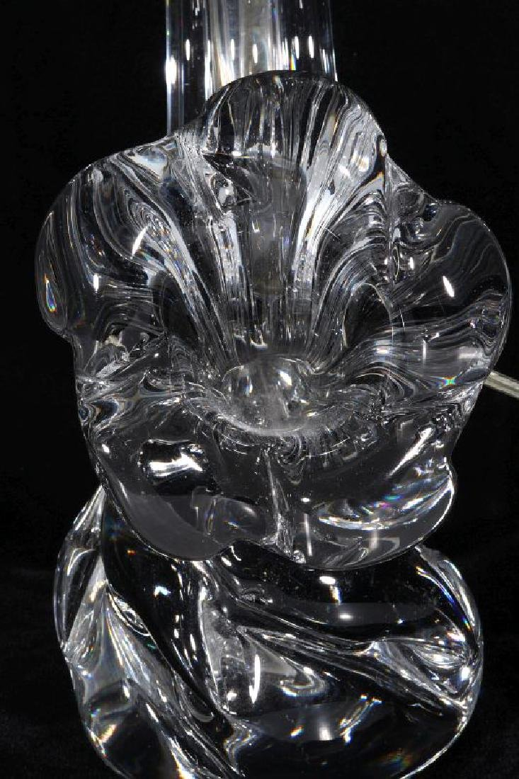 A MODERN CRYSTAL TABLE LAMP SIGNED DAUM FRANCE - 8
