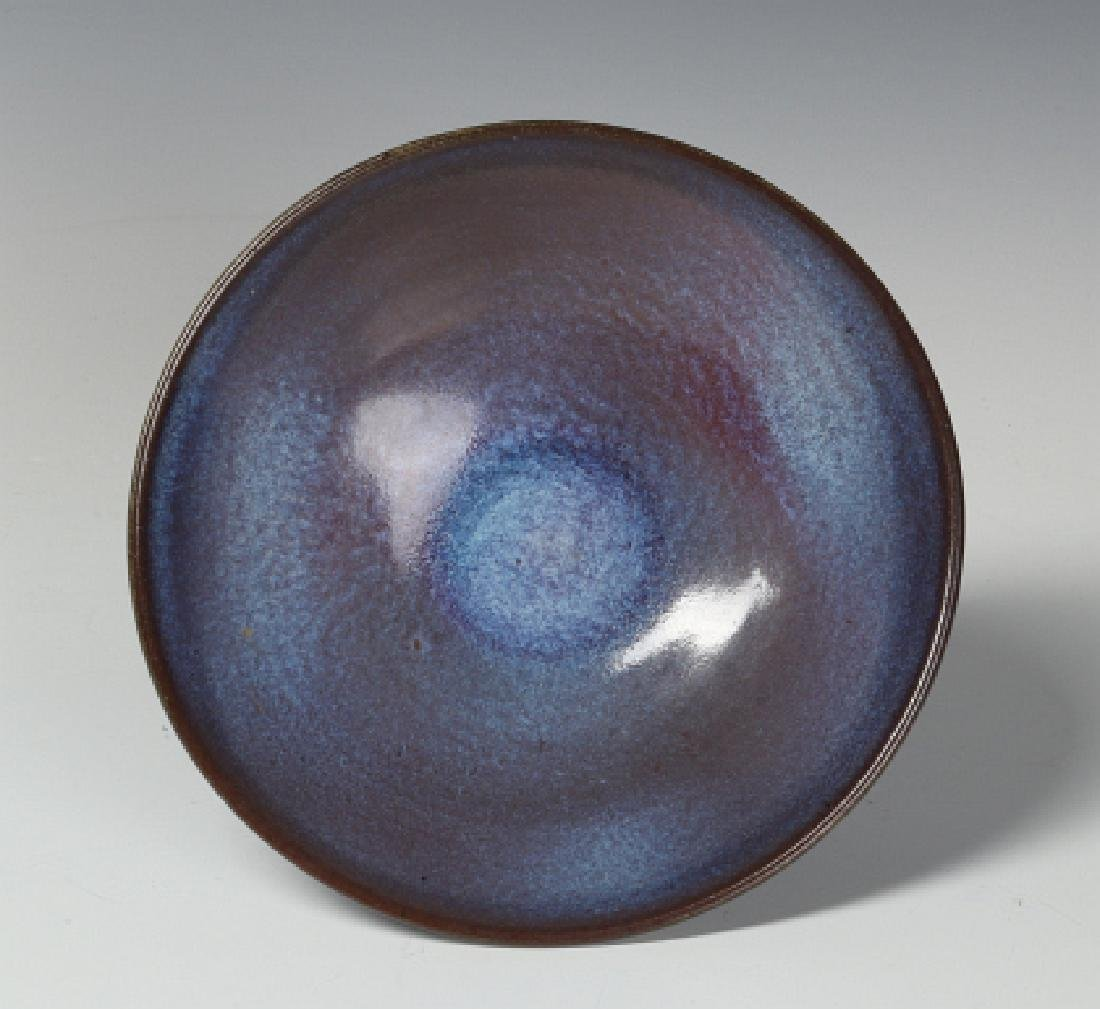 A HARDING BLACK STUDIO POTTERY BOWL DATED 1968