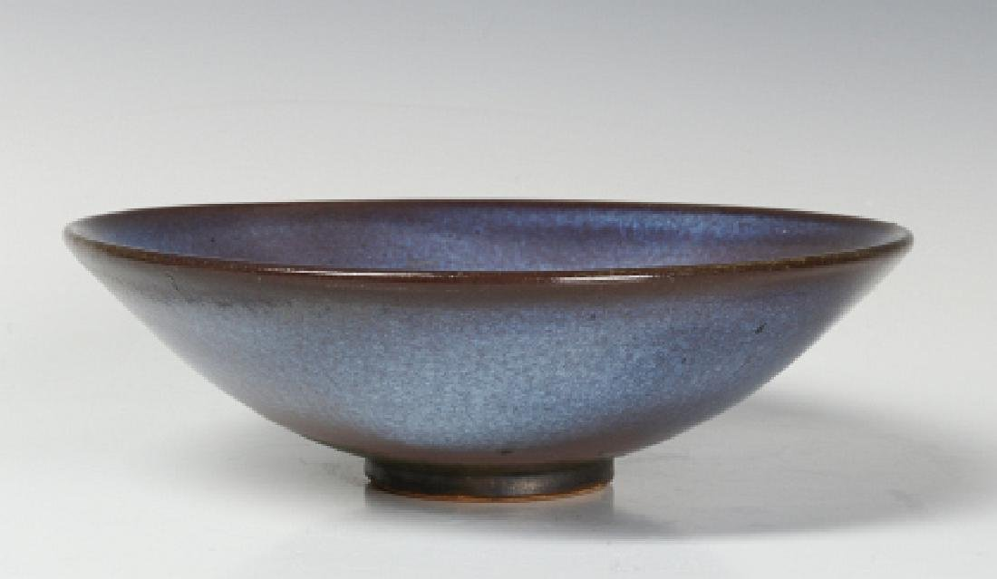 A HARDING BLACK STUDIO POTTERY BOWL DATED 1968 - 3