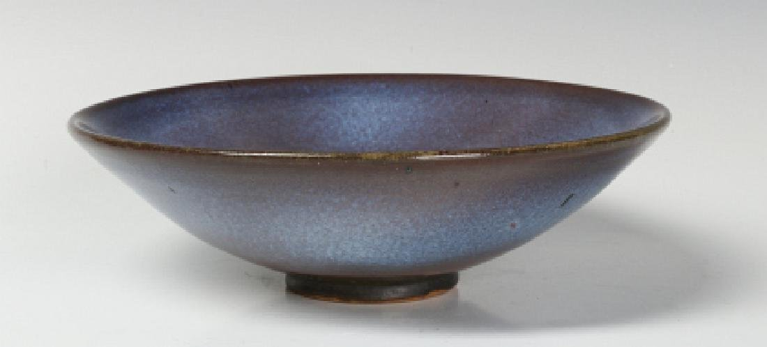 A HARDING BLACK STUDIO POTTERY BOWL DATED 1968 - 4