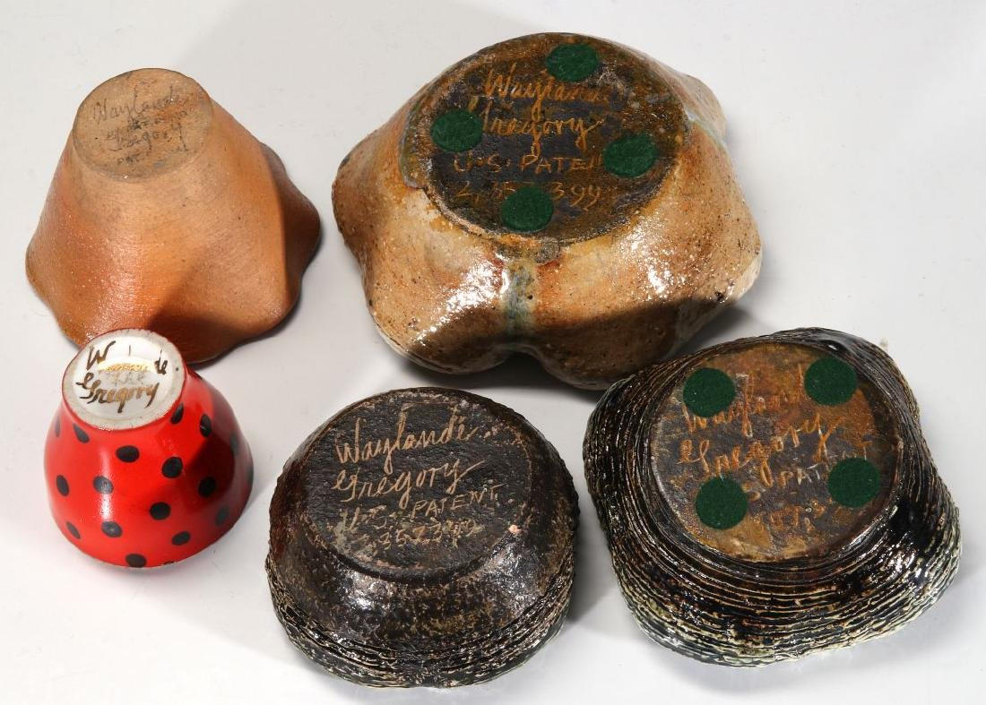 A COLLECTION OF WAYLANDE GREGORY POTTERY PIECES - 10