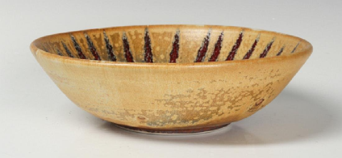 A HARDING BLACK STUDIO POTTERY SUNBURST BOWL 1988 - 4