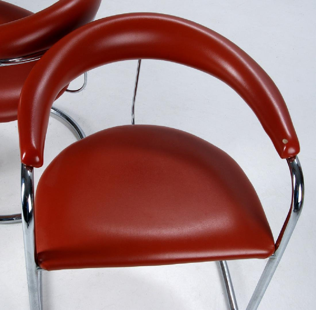 A PAIR ANTON LORENZ CANTILEVER CHAIRS FOR THONET - 2