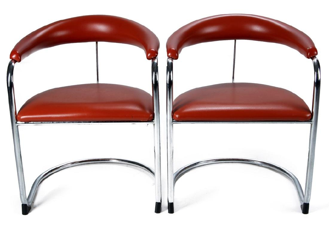 A PAIR ANTON LORENZ CANTILEVER CHAIRS FOR THONET - 3