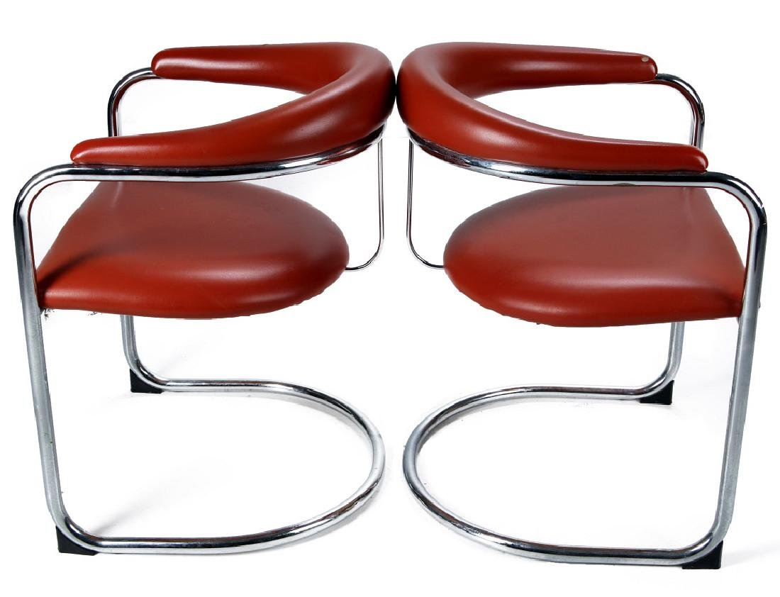 A PAIR ANTON LORENZ CANTILEVER CHAIRS FOR THONET - 4