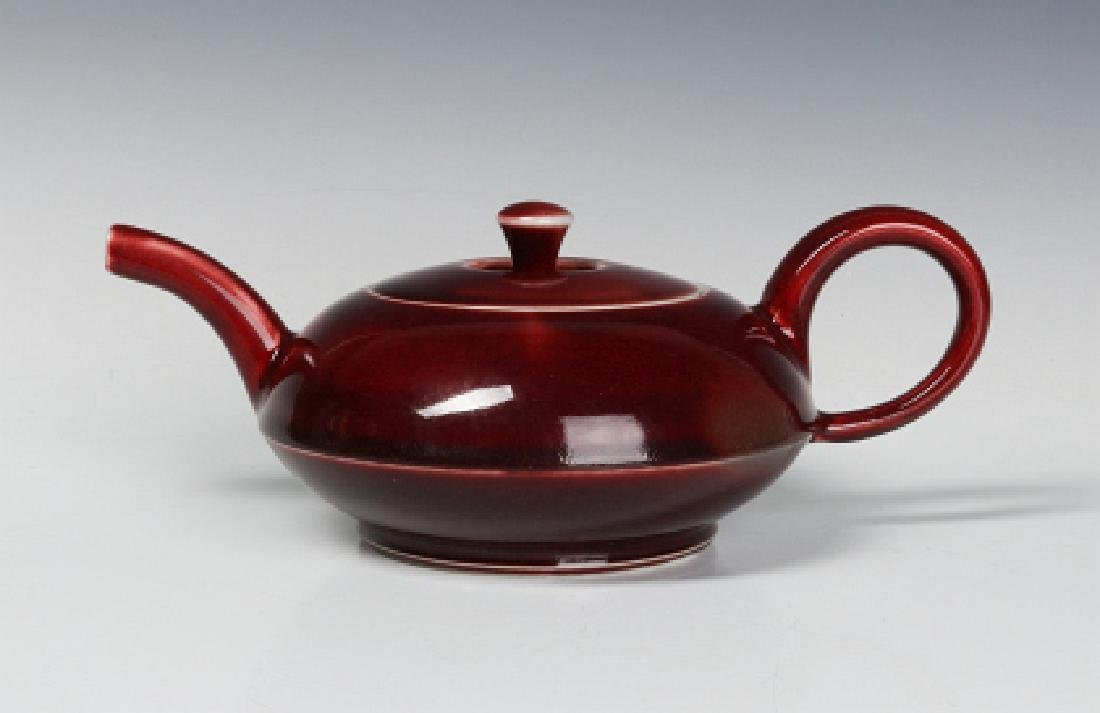 A PETER PINNELL STUDIO POTTERY TEAPOT