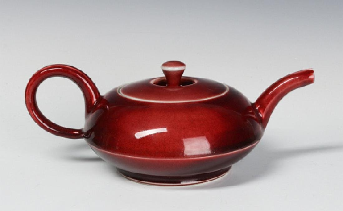 A PETER PINNELL STUDIO POTTERY TEAPOT - 3