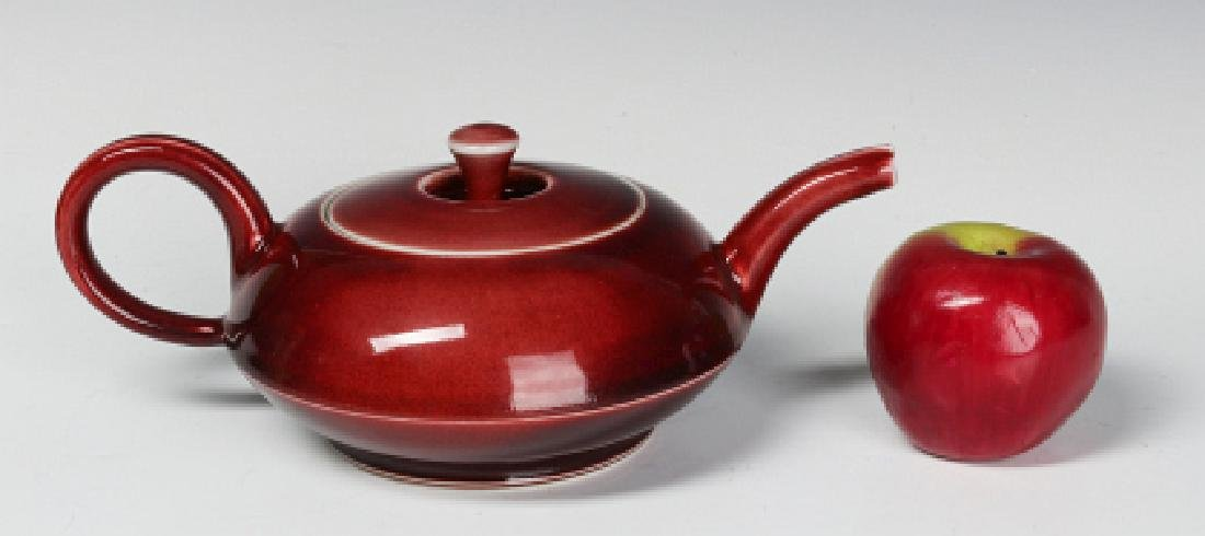 A PETER PINNELL STUDIO POTTERY TEAPOT - 5