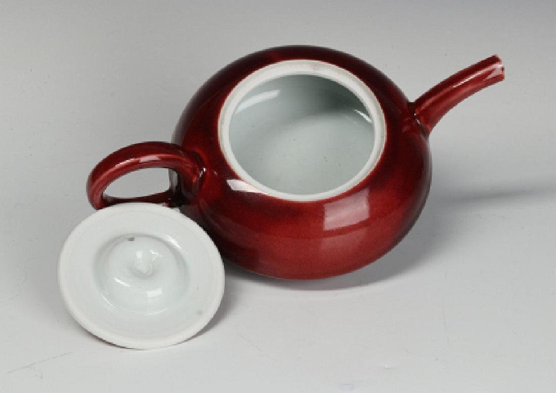 A PETER PINNELL STUDIO POTTERY TEAPOT - 7