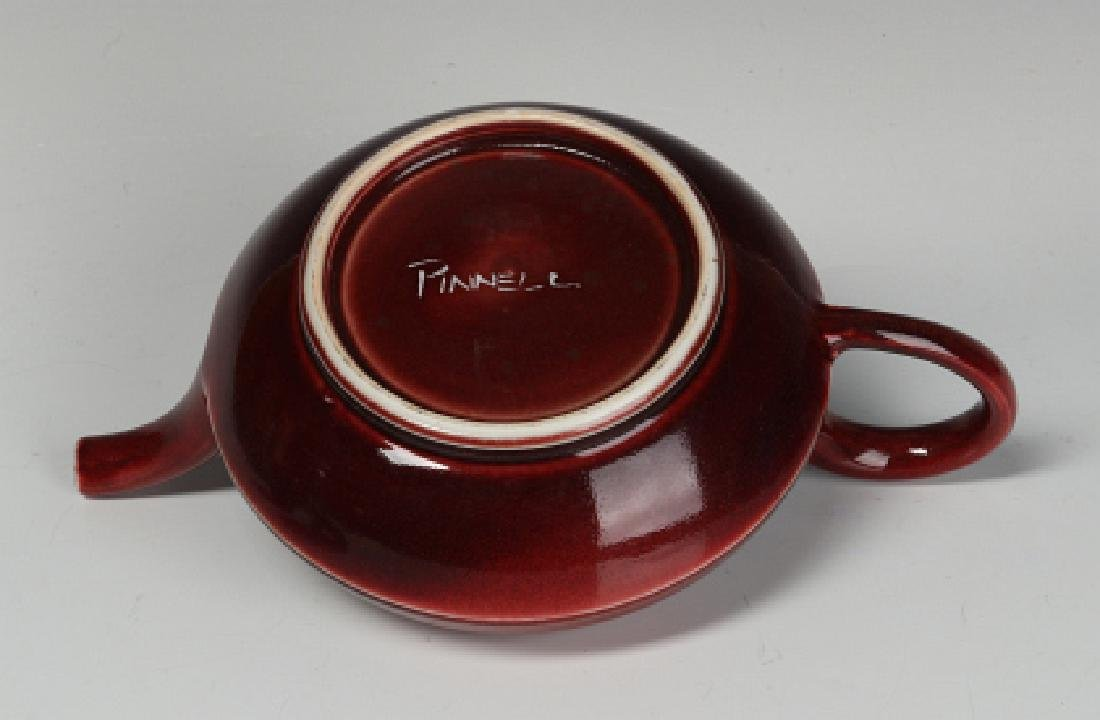 A PETER PINNELL STUDIO POTTERY TEAPOT - 8