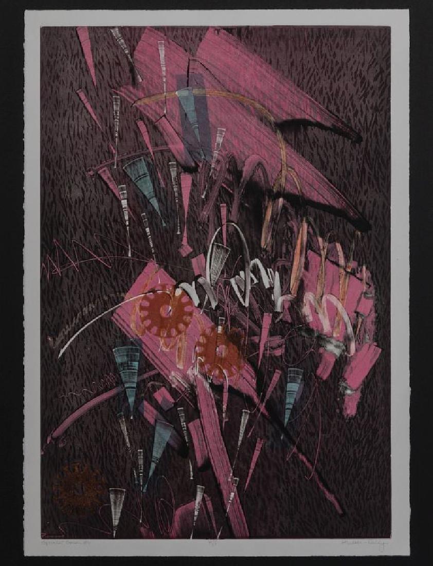 ATTRIB. THOMAS HUDSON-REIDY (B. 1933) LITHOGRAPH - 2