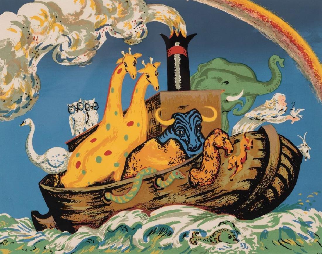 MERVIN JULES (1912-1994) PENCIL SIGNED SERIGRAPH