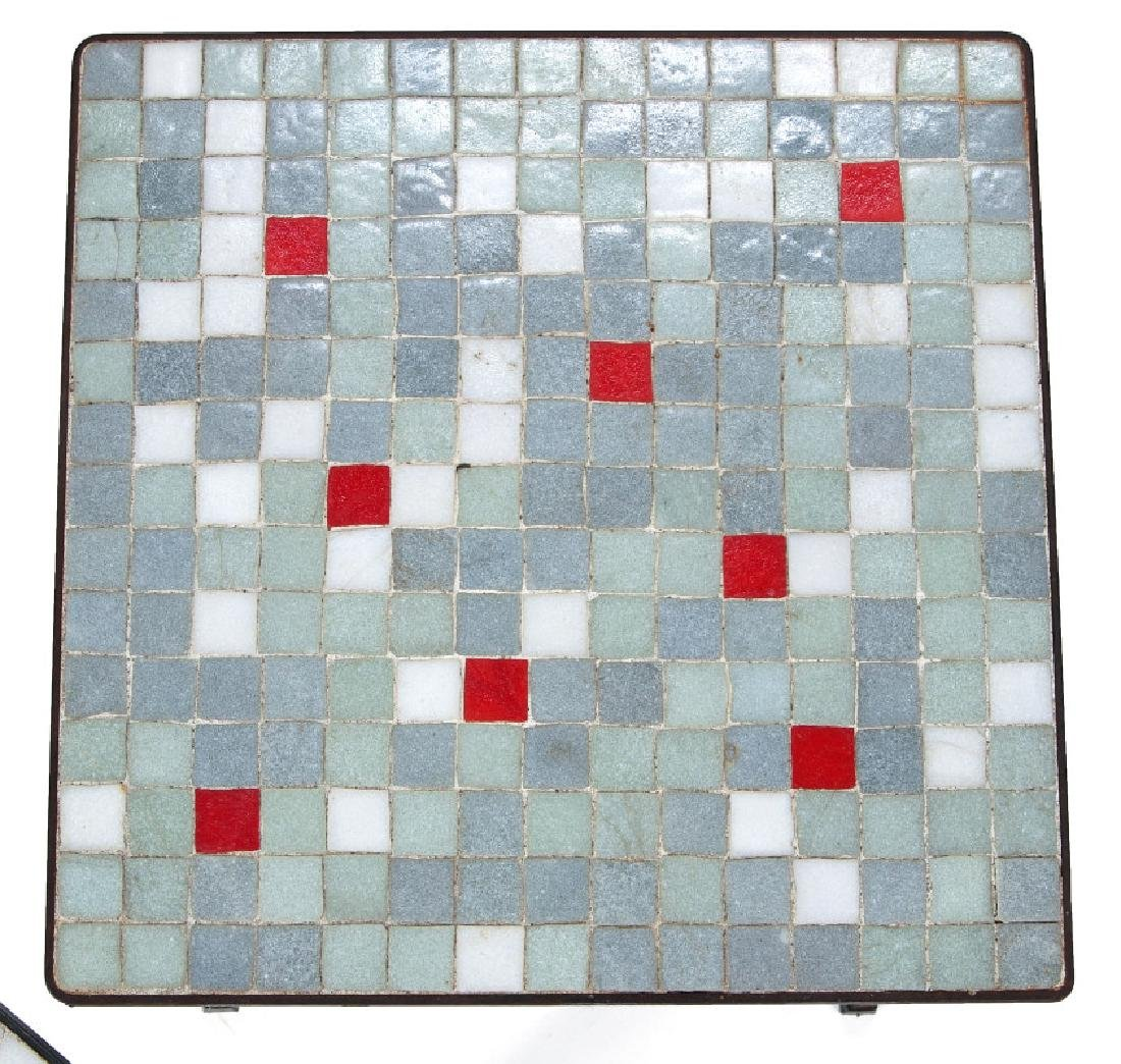 A TRIO OF MID 20TH CENT TILE TOP TABLES - 3