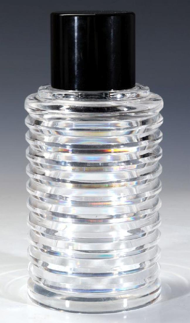 A CUT AND POLISHED CRYSTAL ART DECO BOTTLE - 8