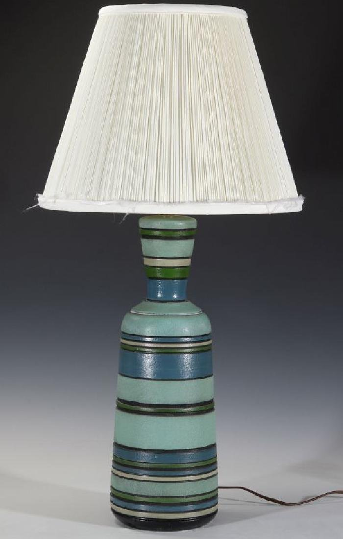 A MID 20TH CENT CERAMIC LAMP SIGNED LONDON LAMP - 11