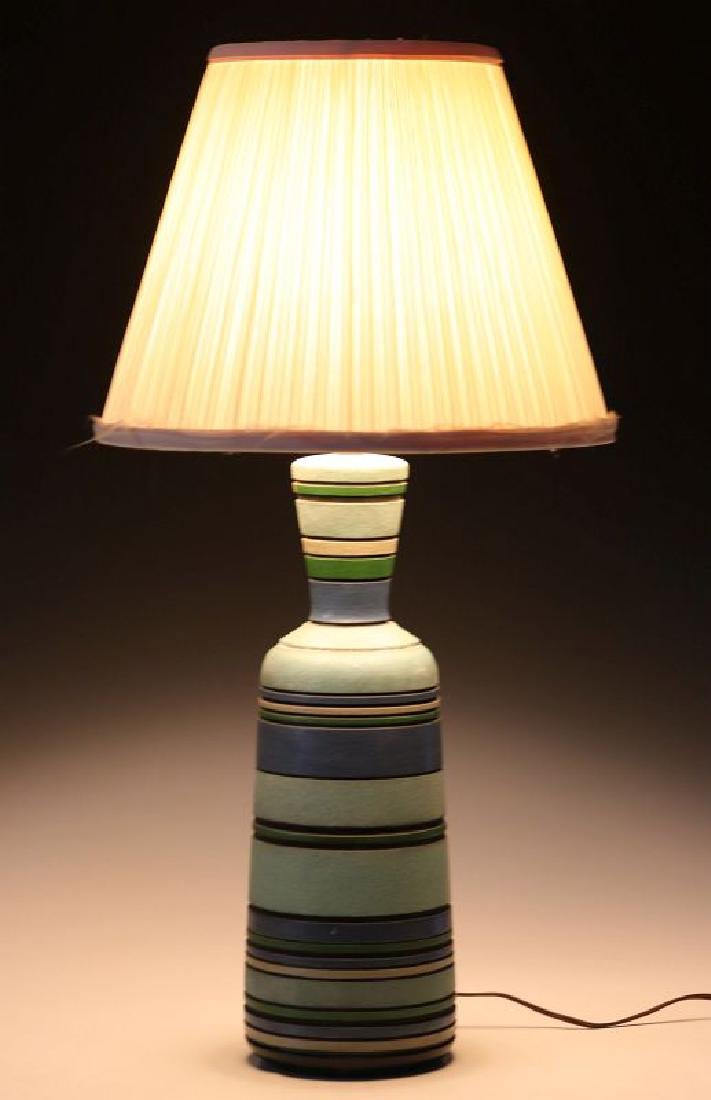 A MID 20TH CENT CERAMIC LAMP SIGNED LONDON LAMP - 12