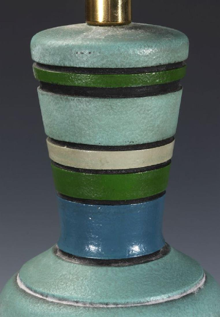A MID 20TH CENT CERAMIC LAMP SIGNED LONDON LAMP - 2
