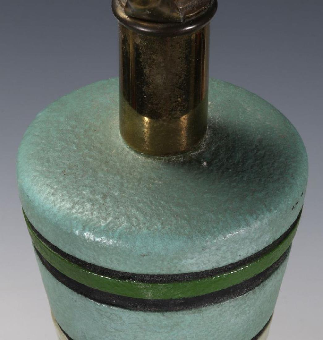 A MID 20TH CENT CERAMIC LAMP SIGNED LONDON LAMP - 9