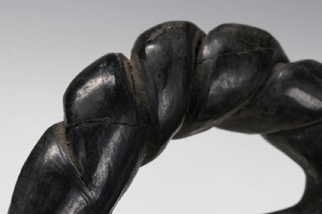 A SANTA CLARA POLISHED BLACK BOWL SIGNED CLARITA - 10