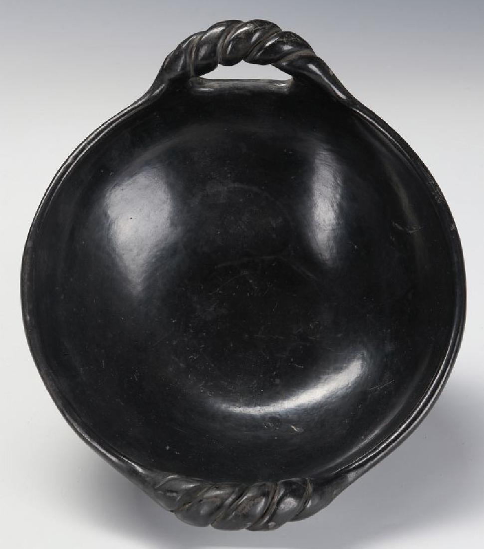 A SANTA CLARA POLISHED BLACK BOWL SIGNED CLARITA - 5