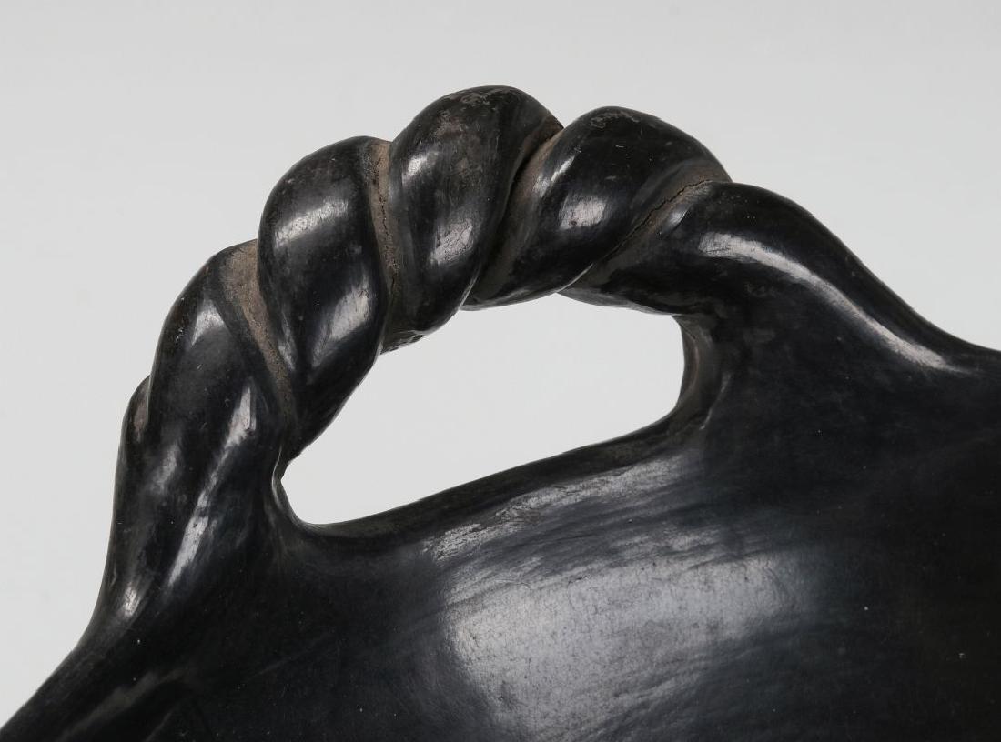 A SANTA CLARA POLISHED BLACK BOWL SIGNED CLARITA - 6