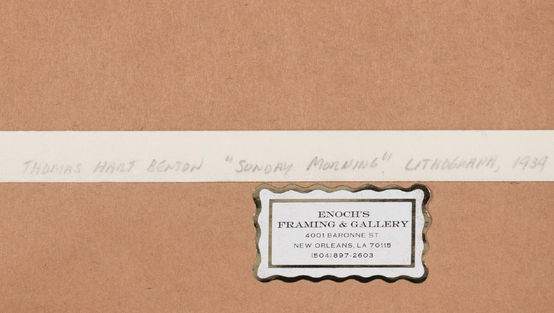 THOMAS HART BENTON (1889-1975) PENCIL SIGNED LITHO - 15