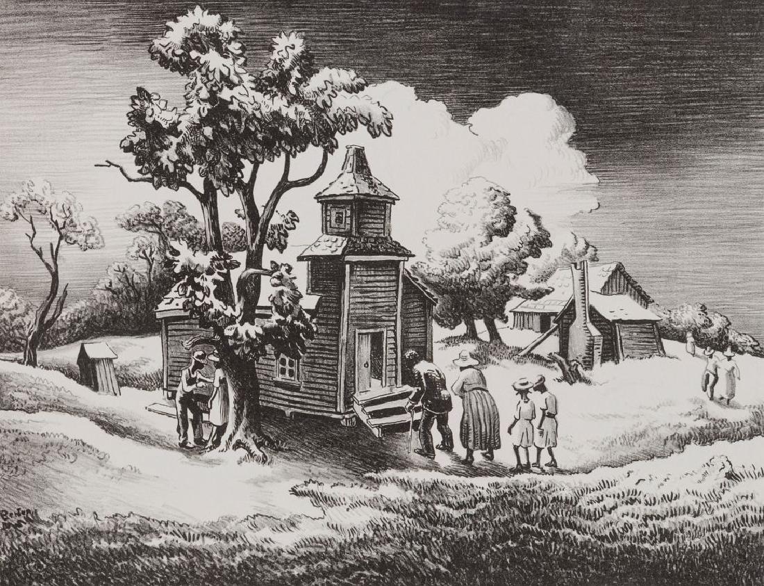 THOMAS HART BENTON (1889-1975) PENCIL SIGNED LITHO