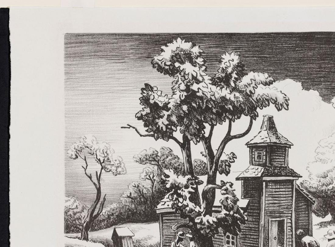 THOMAS HART BENTON (1889-1975) PENCIL SIGNED LITHO - 3