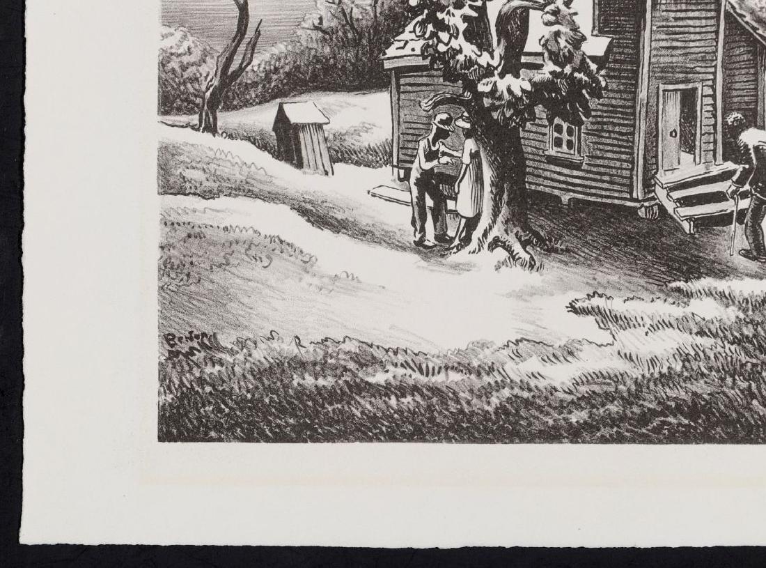THOMAS HART BENTON (1889-1975) PENCIL SIGNED LITHO - 6