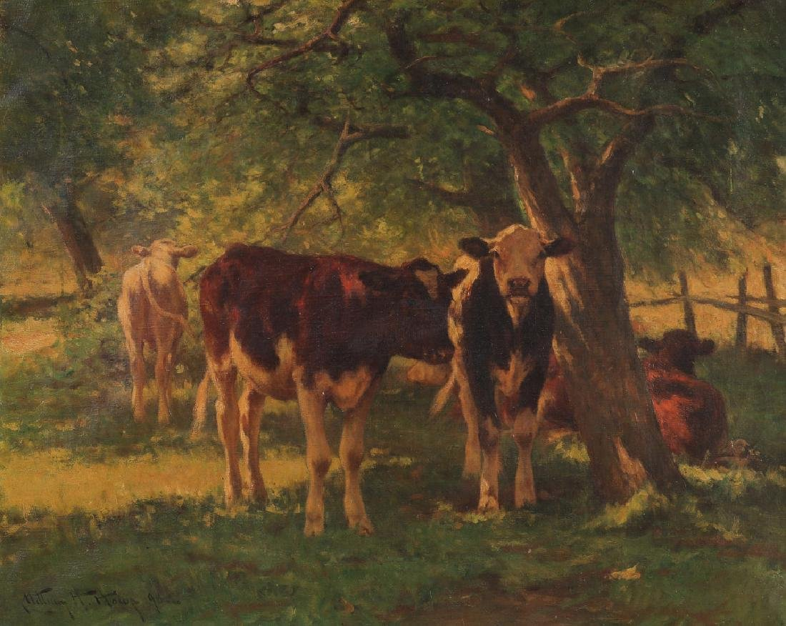 WILLIAM HENRY HOWE (1846 - 1929) OIL ON CANVAS