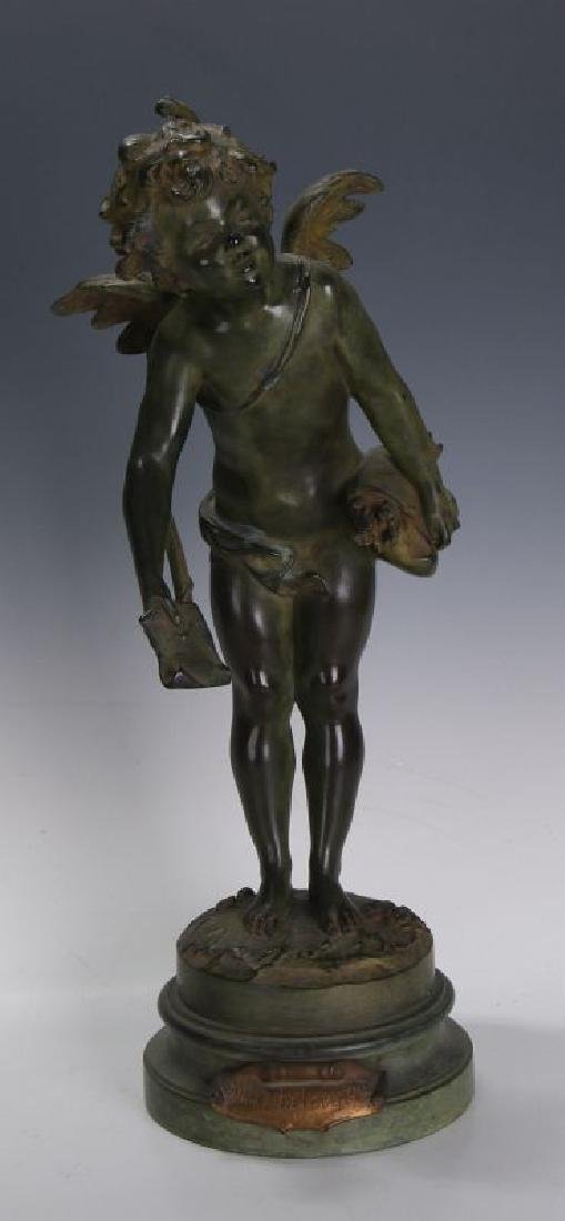 AFTER AUGUSTE MOREAU (1826-1897) BRONZE SCULPTURE