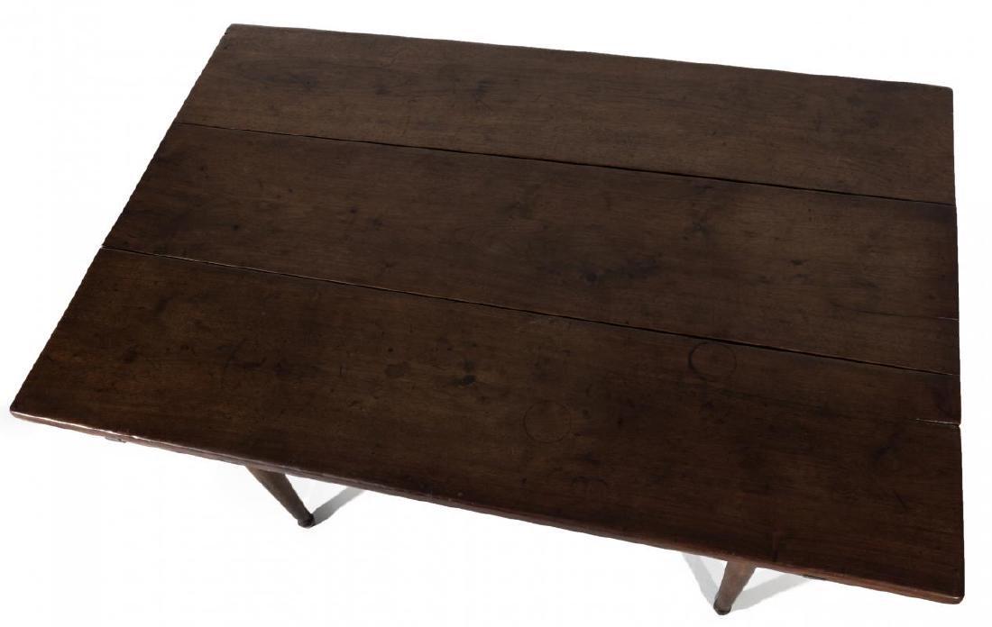 A GOOD SOUTHERN, WALNUT SCRUB TOP WORK TABLE - 2