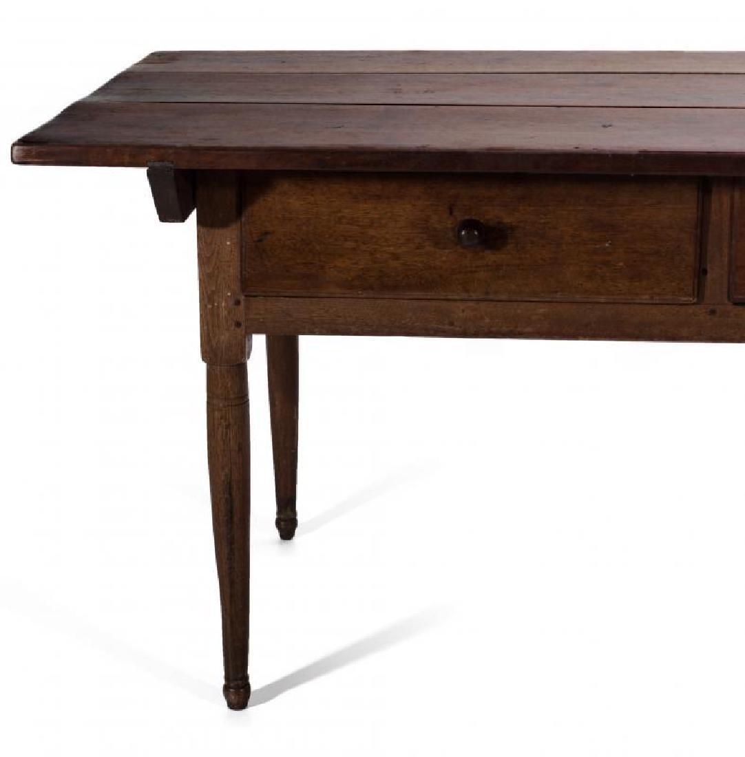A GOOD SOUTHERN, WALNUT SCRUB TOP WORK TABLE - 4