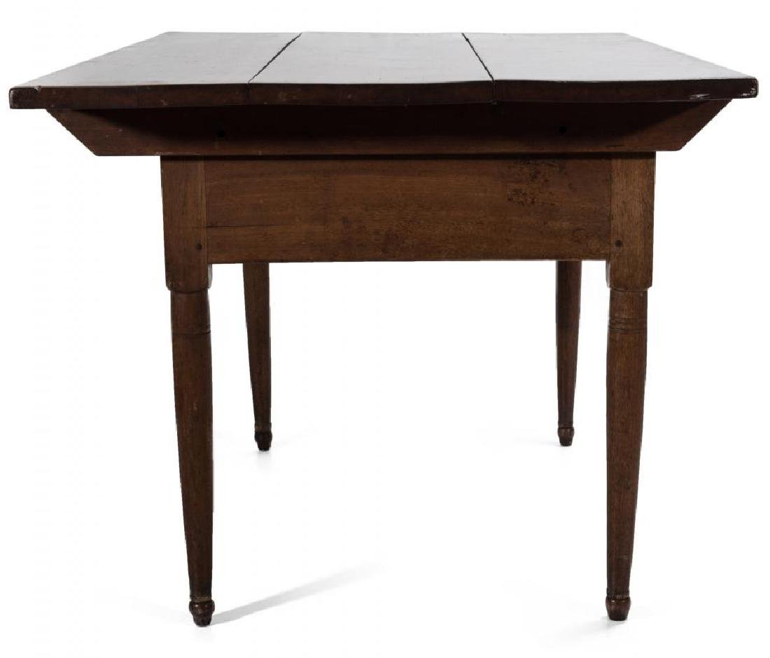 A GOOD SOUTHERN, WALNUT SCRUB TOP WORK TABLE - 9