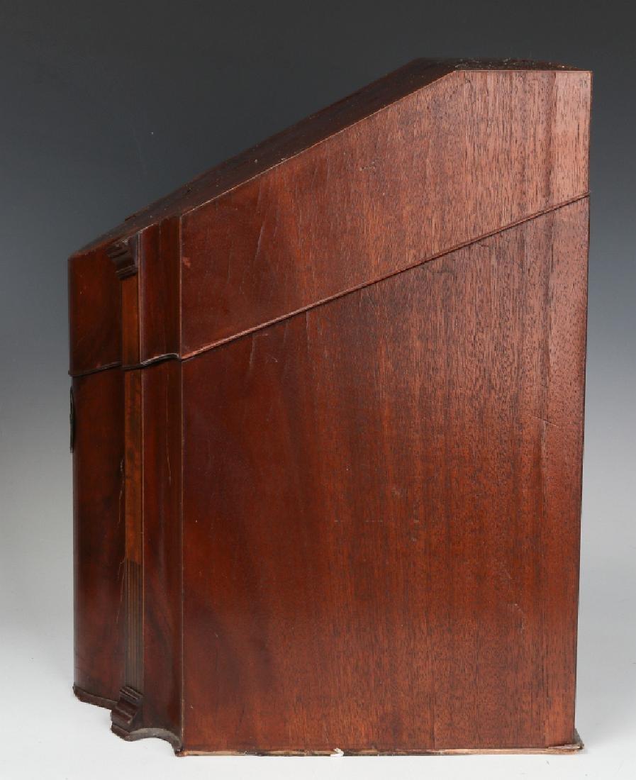 A PAIR CIRCA 1800 HEPPLEWHITE MAHOGANY KNIFE BOXES - 10