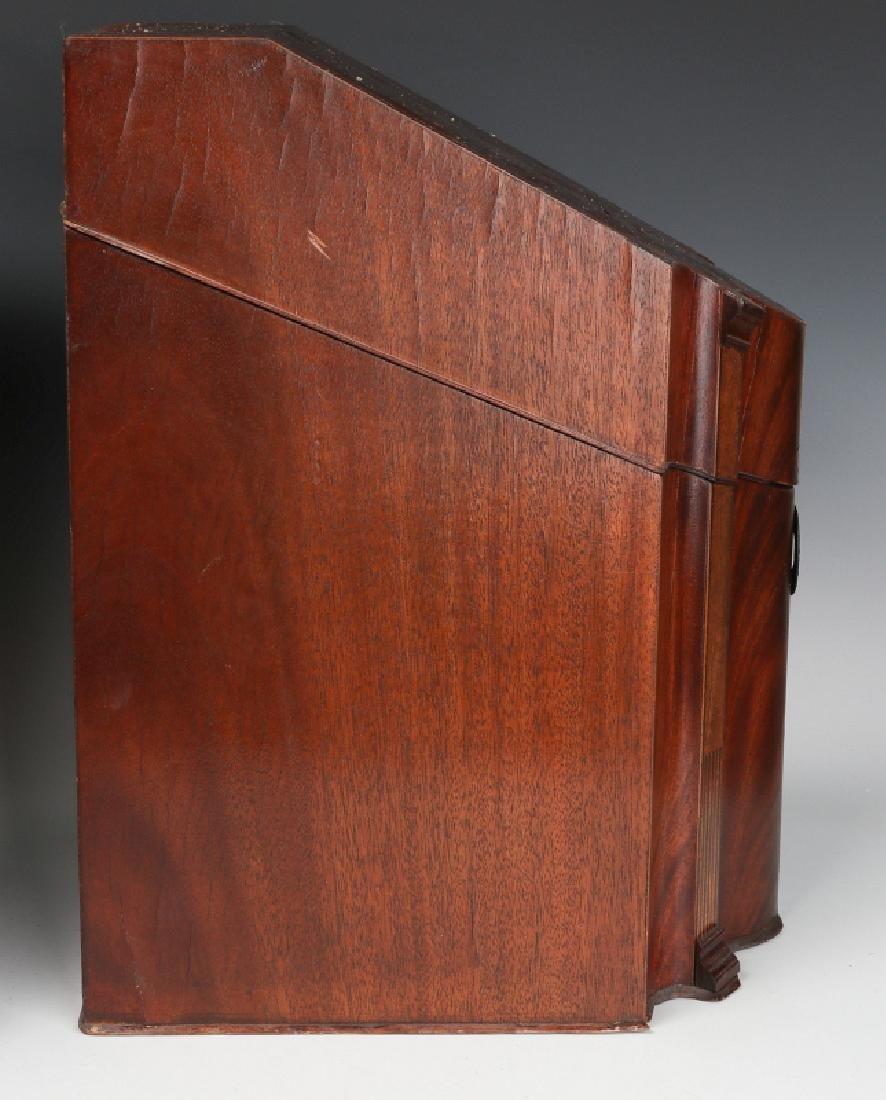 A PAIR CIRCA 1800 HEPPLEWHITE MAHOGANY KNIFE BOXES - 6