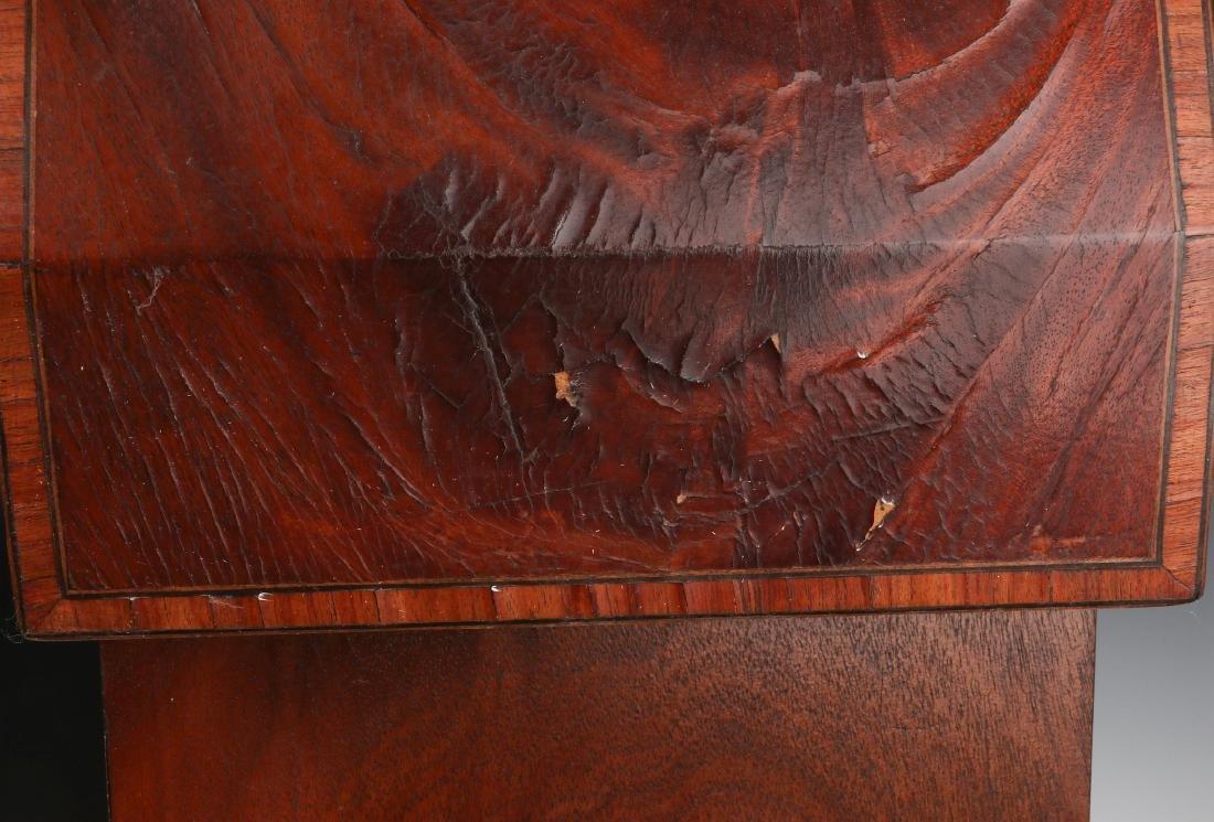 A PAIR CIRCA 1800 HEPPLEWHITE MAHOGANY KNIFE BOXES - 8