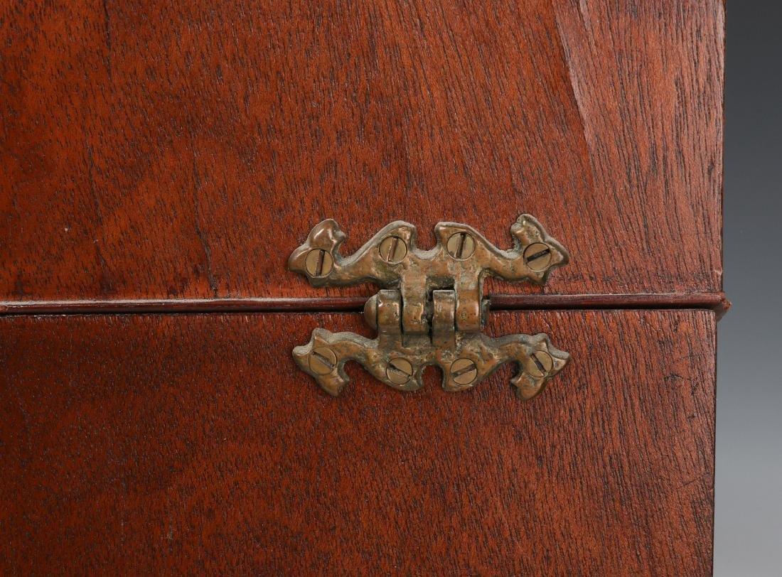 A PAIR CIRCA 1800 HEPPLEWHITE MAHOGANY KNIFE BOXES - 9